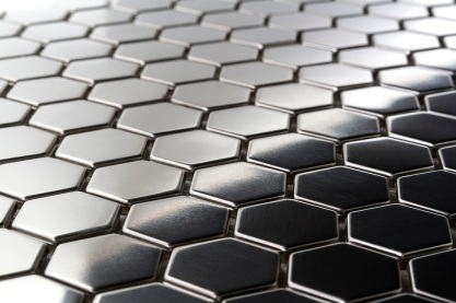 Hexagon Metal Mosaic