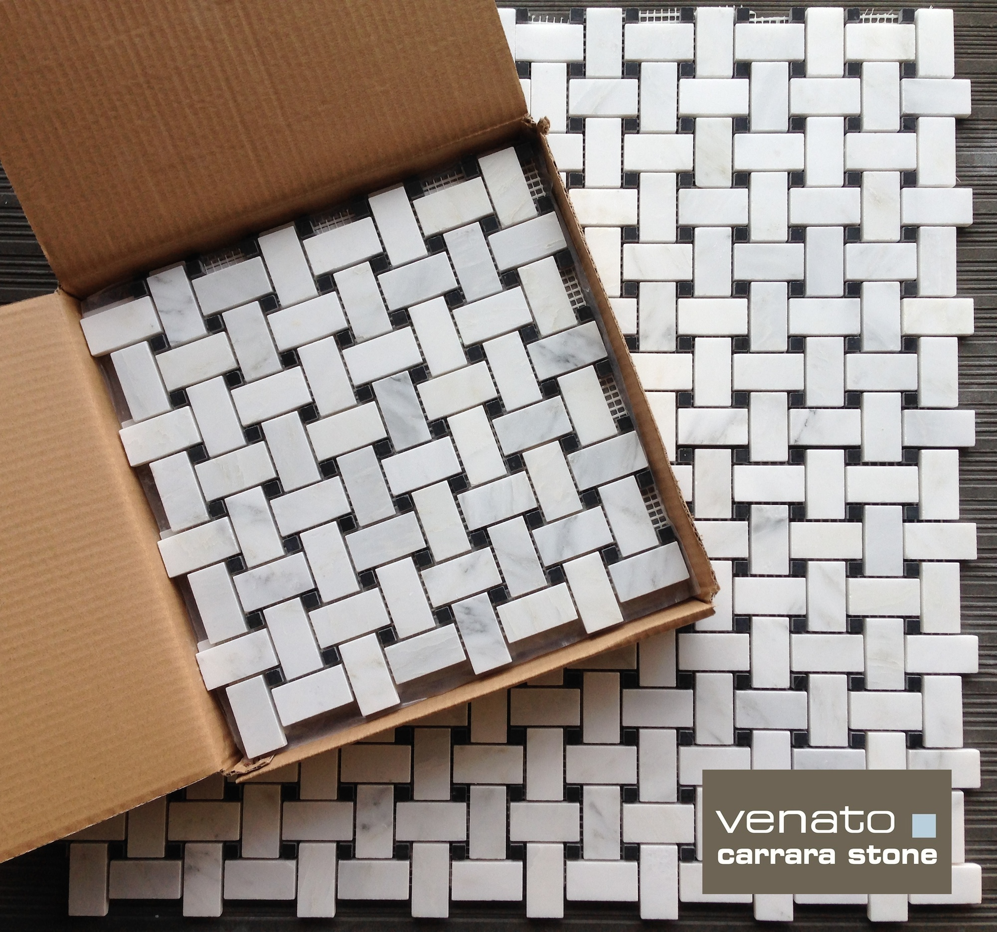 Carrara Venato Basketweave Honed Tile The Builder Depot Blog