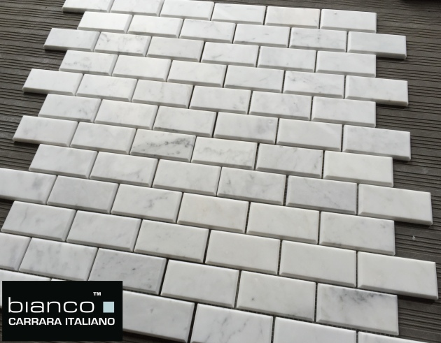 Carrara Bianco 2x4 Beveled Honed