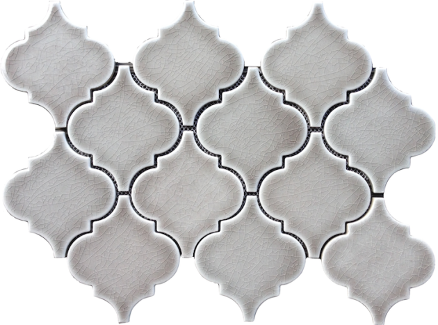 Gray Arabesque Tile