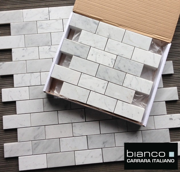 "Bianco Carrara 2x4"" Mosaic Tile"