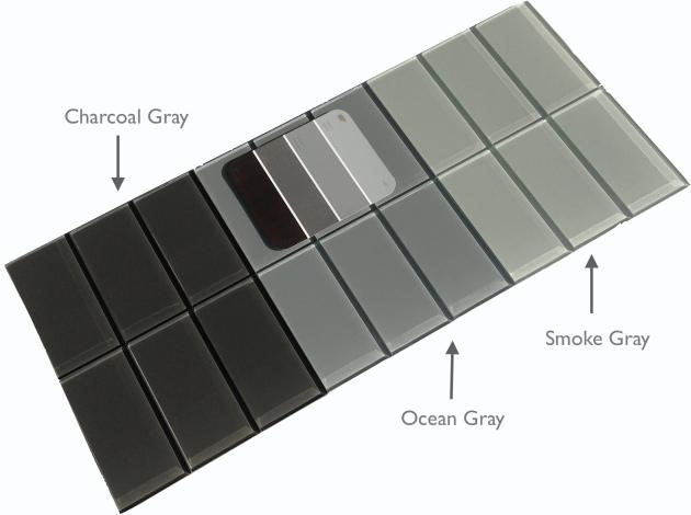 """Gray Glass 3x6"""" Subway Tile"""