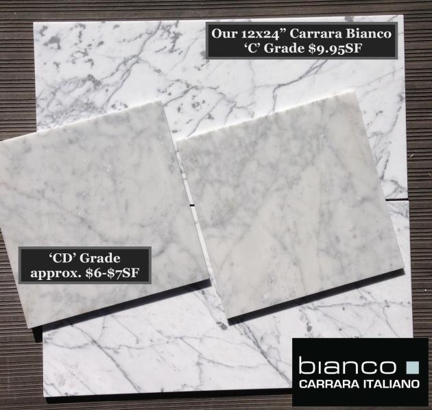 """Premium 12x24"""" Italian Marble Tile"""