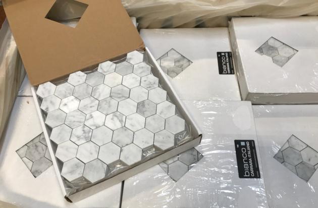 Bianco 2 Hexagon Honed
