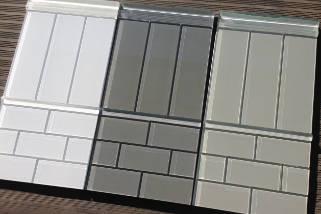 charcoal gray glass tile