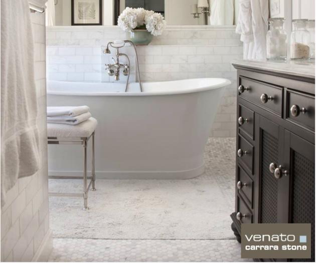 Carrara Venato White Bathroom