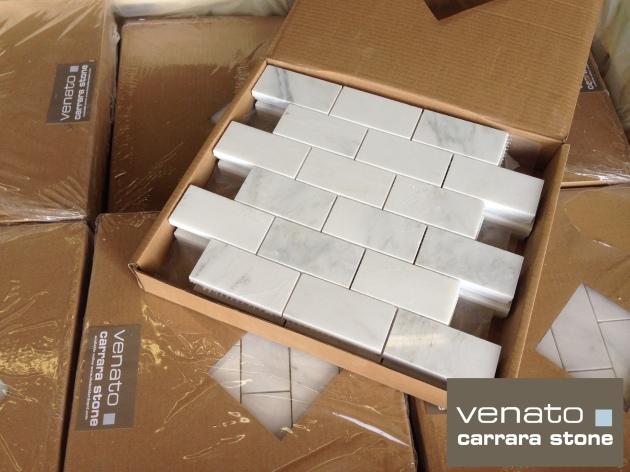 "Carrara Venato 2x4"" Subway Tile Polished"
