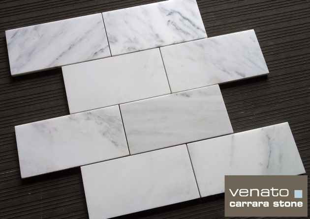 "Carrara Venato 4x8"" Subway Tile"