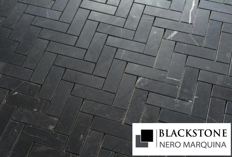 Carrara Nero Marquina Honed Mosaic Tile