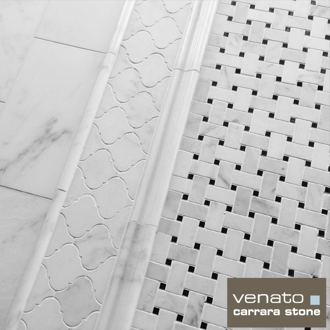 Carrara Venato Tile Display Board