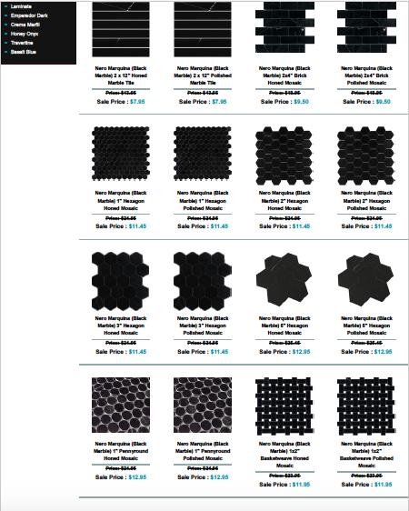 Black Marble Nero Collection