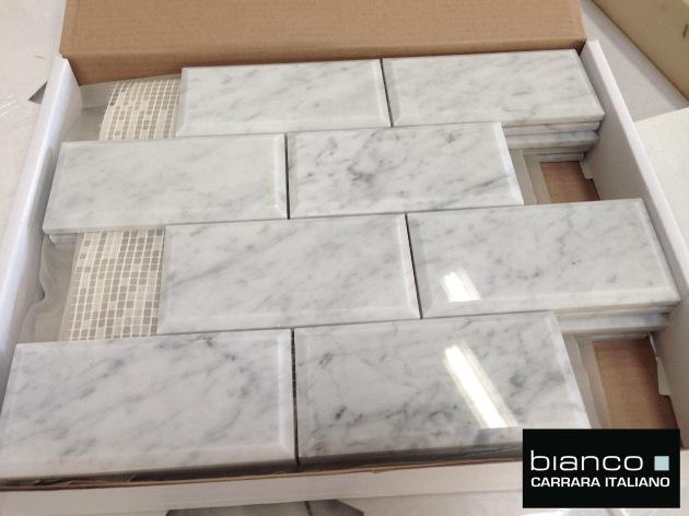 Carrara Bianco Polished 3x6
