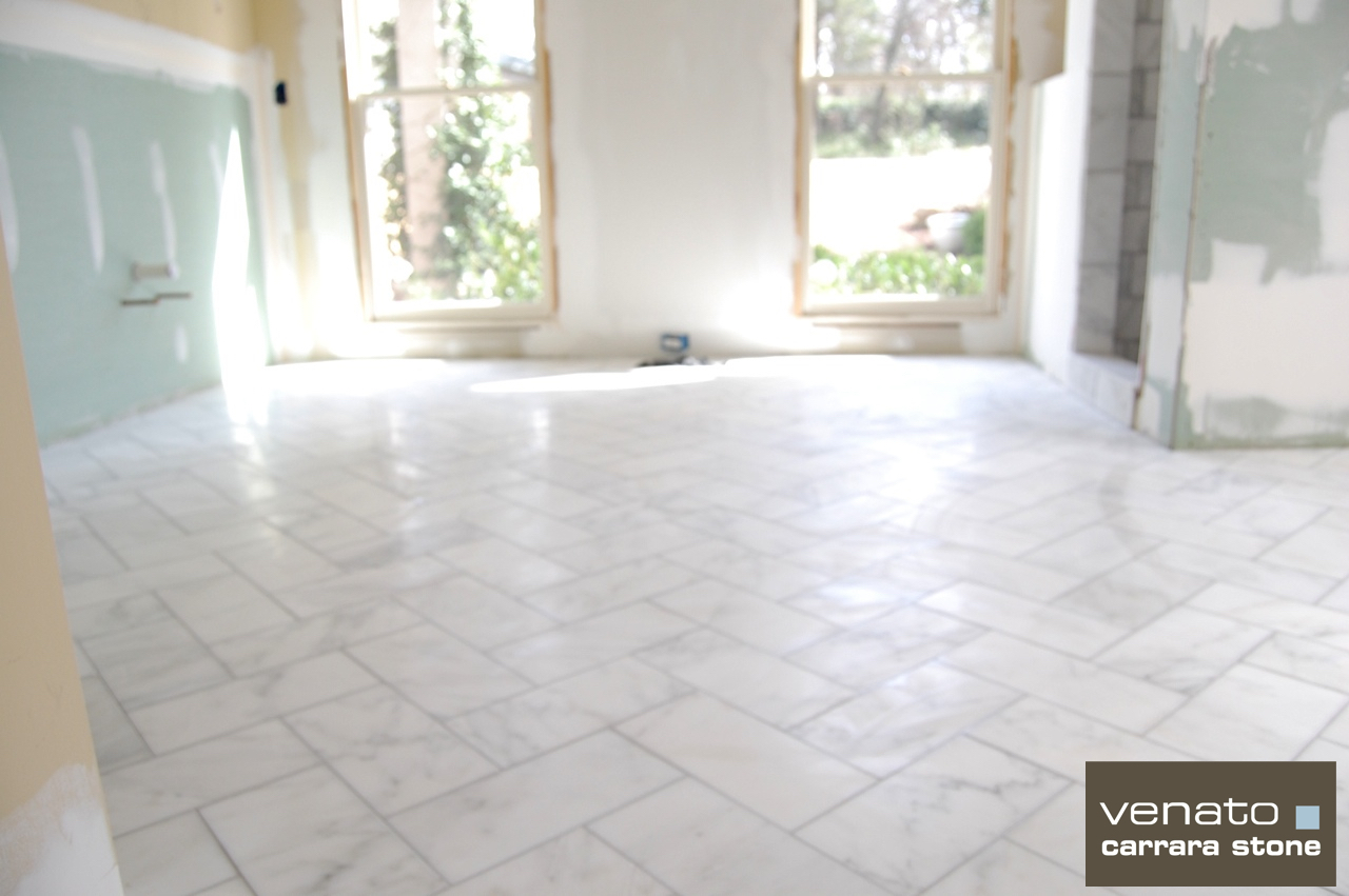 612 herringbone the builder depot blog carrara venato 6x12 marble tile herringbone dailygadgetfo Gallery