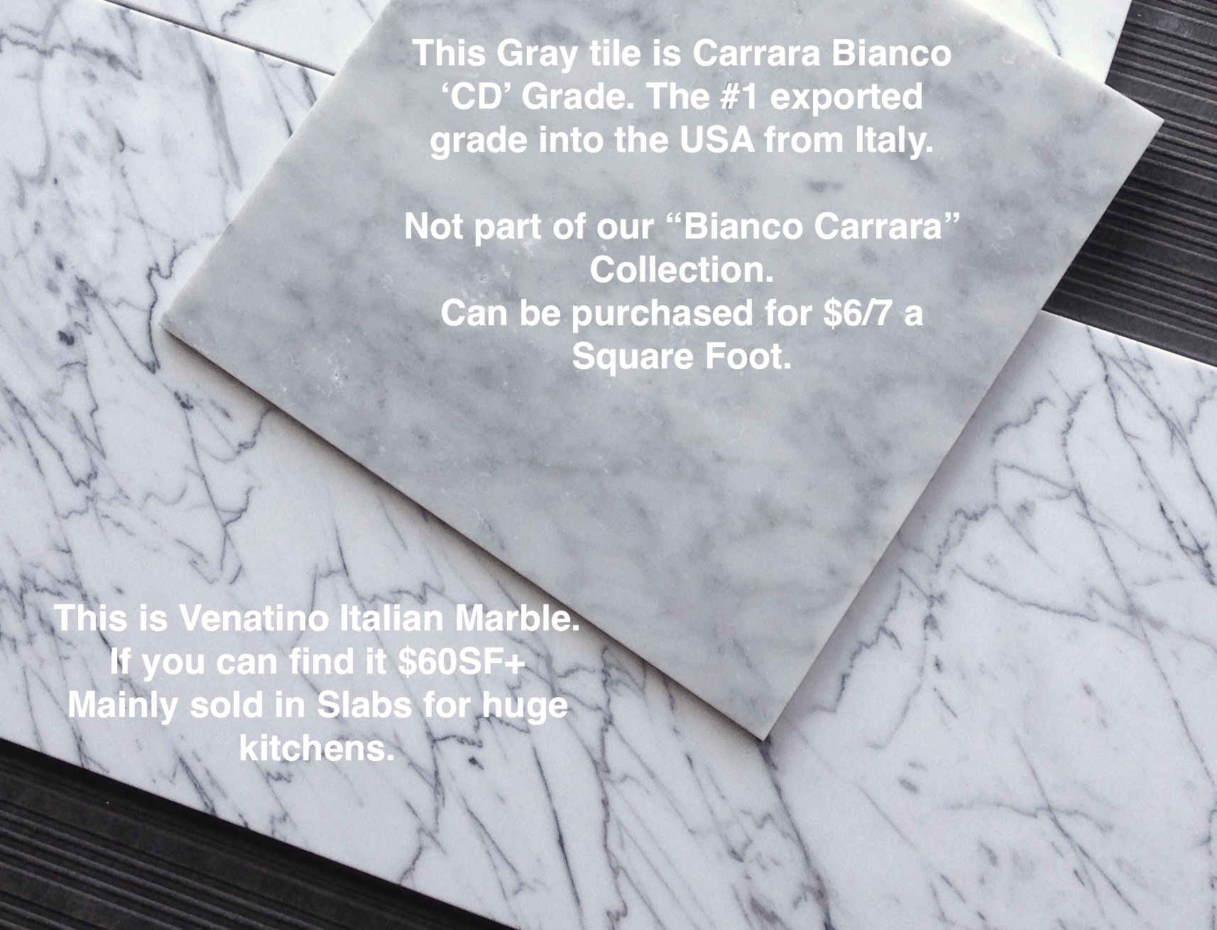 Completely new Carrara Bianco Venatino 12×24″ Marble Tile $7.95SF | the builder  XC19