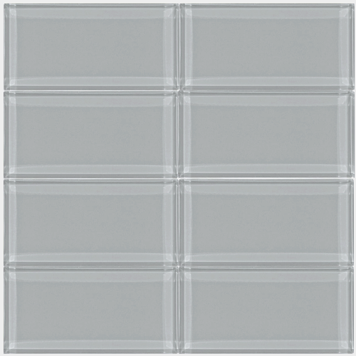 Cathedrial Gray 3x6 Glass Subway Tile