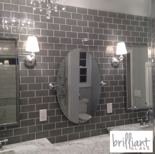 Ocean Gray 3x6 Glass Tile from The Builder Depot