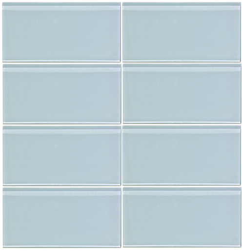 Vapor Blue 3x6 Glass Tile