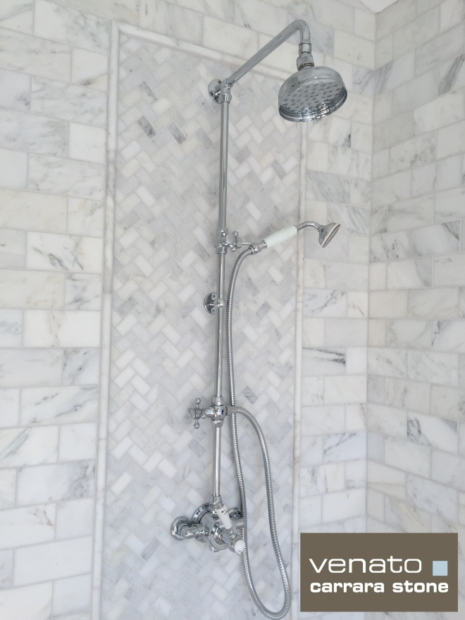 Carrara Venato Shower
