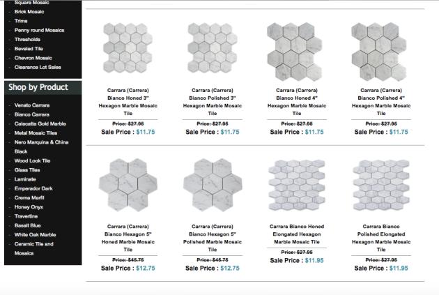 Hexagon Marble Mosaics