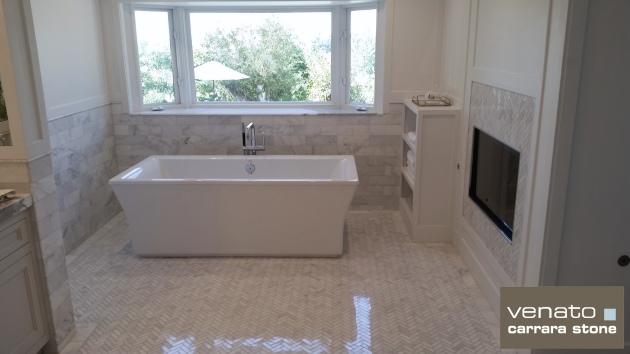 Carrara Venato Polished Bathroom