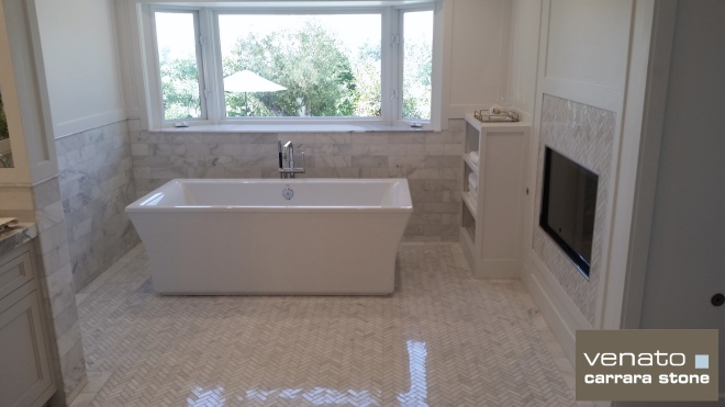 Carrara Venato Polished Bathroom