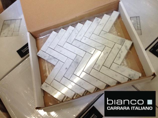 Carrara Bianco 1x4