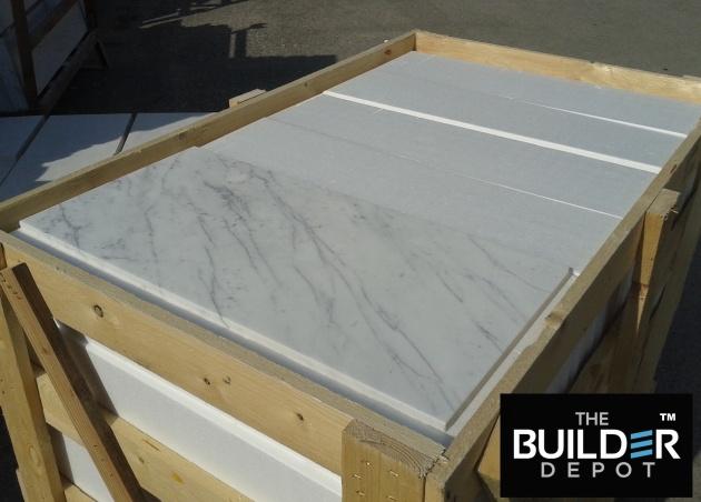 Italian Carrara Bianco Honed Marble Mosaic Tile
