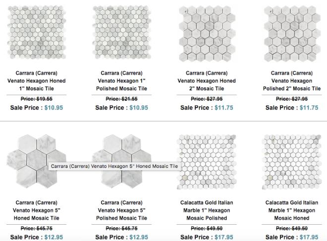 Hexagon Marble Mosaic