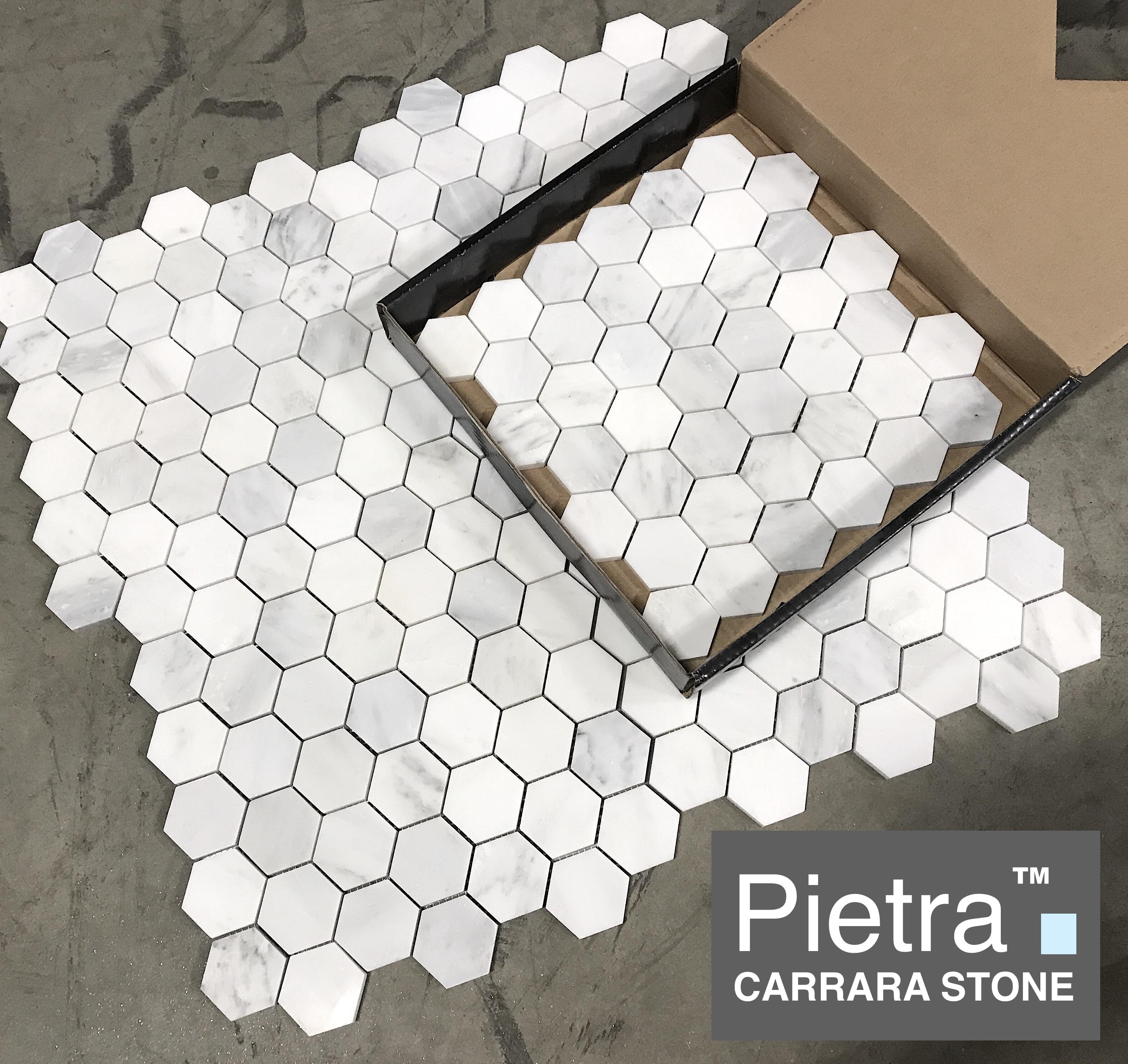 Pietra Carrara Hexagon