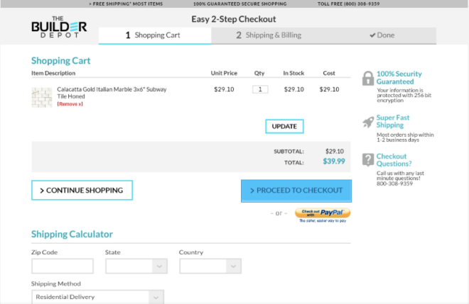 Cleaner Checkout
