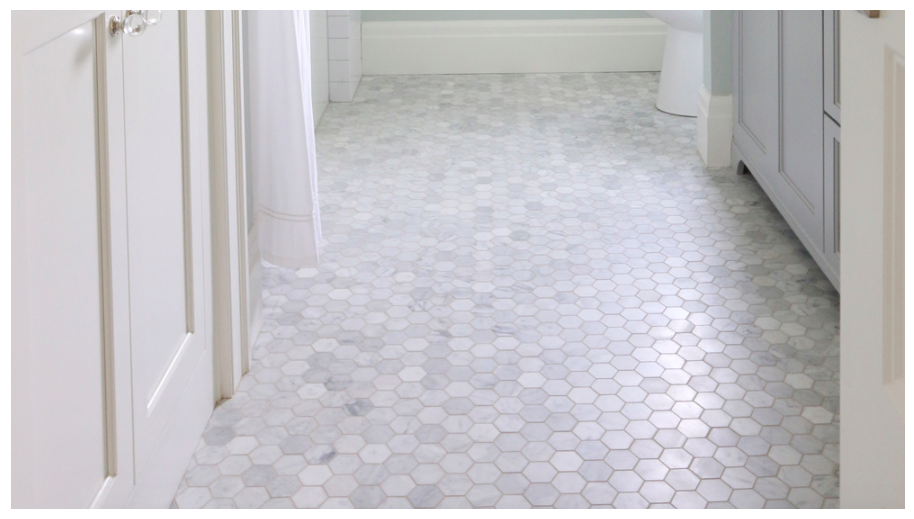 Carrara Venato 2 215 2 Hexagon Mosaic Tile 11 75sf The