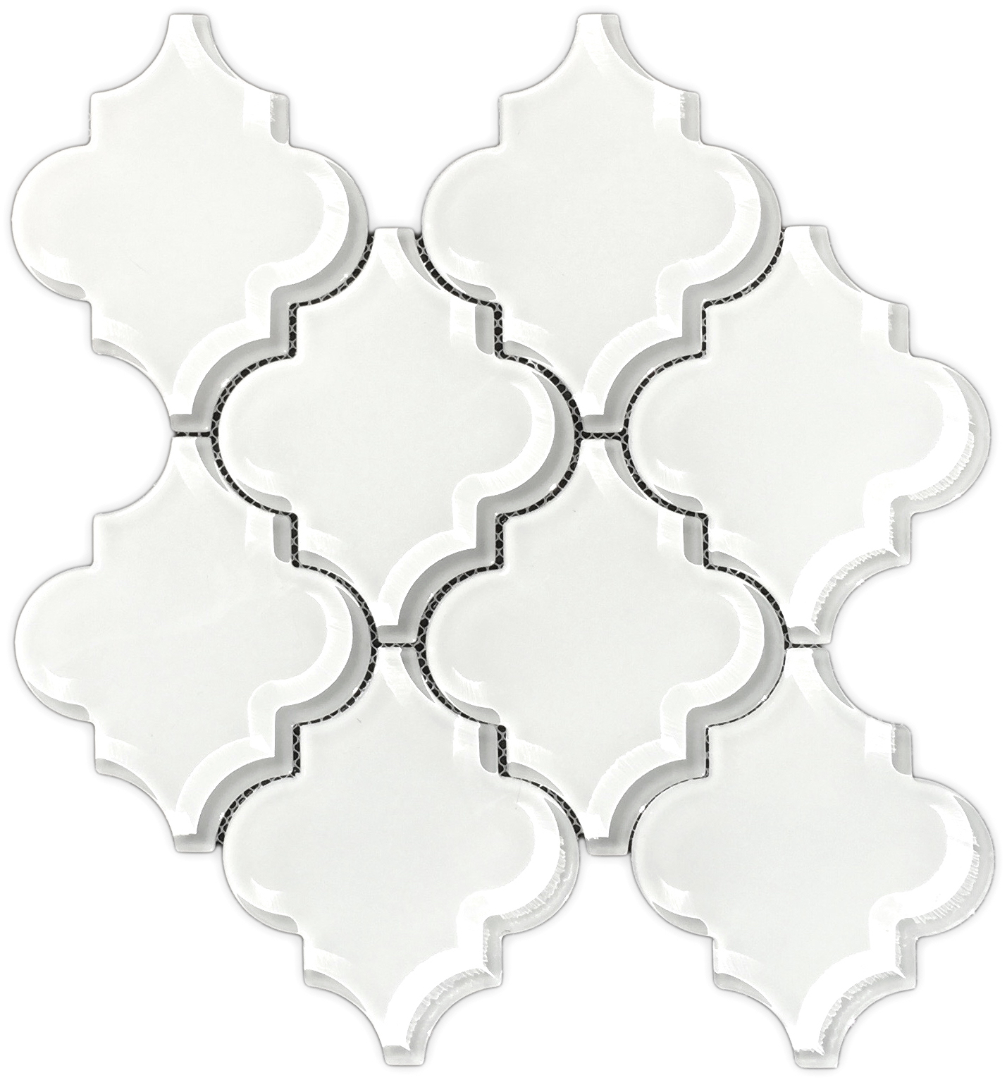 Brillaiant White Glass Arabesque Mosaic