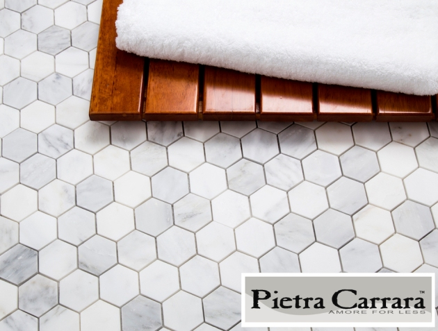 Carrara Pietra 2%22 Hexagon Tile