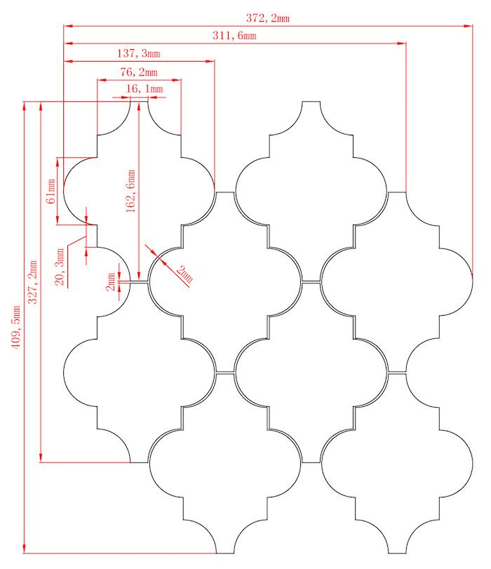 Glass Arabesque Spec Sheet