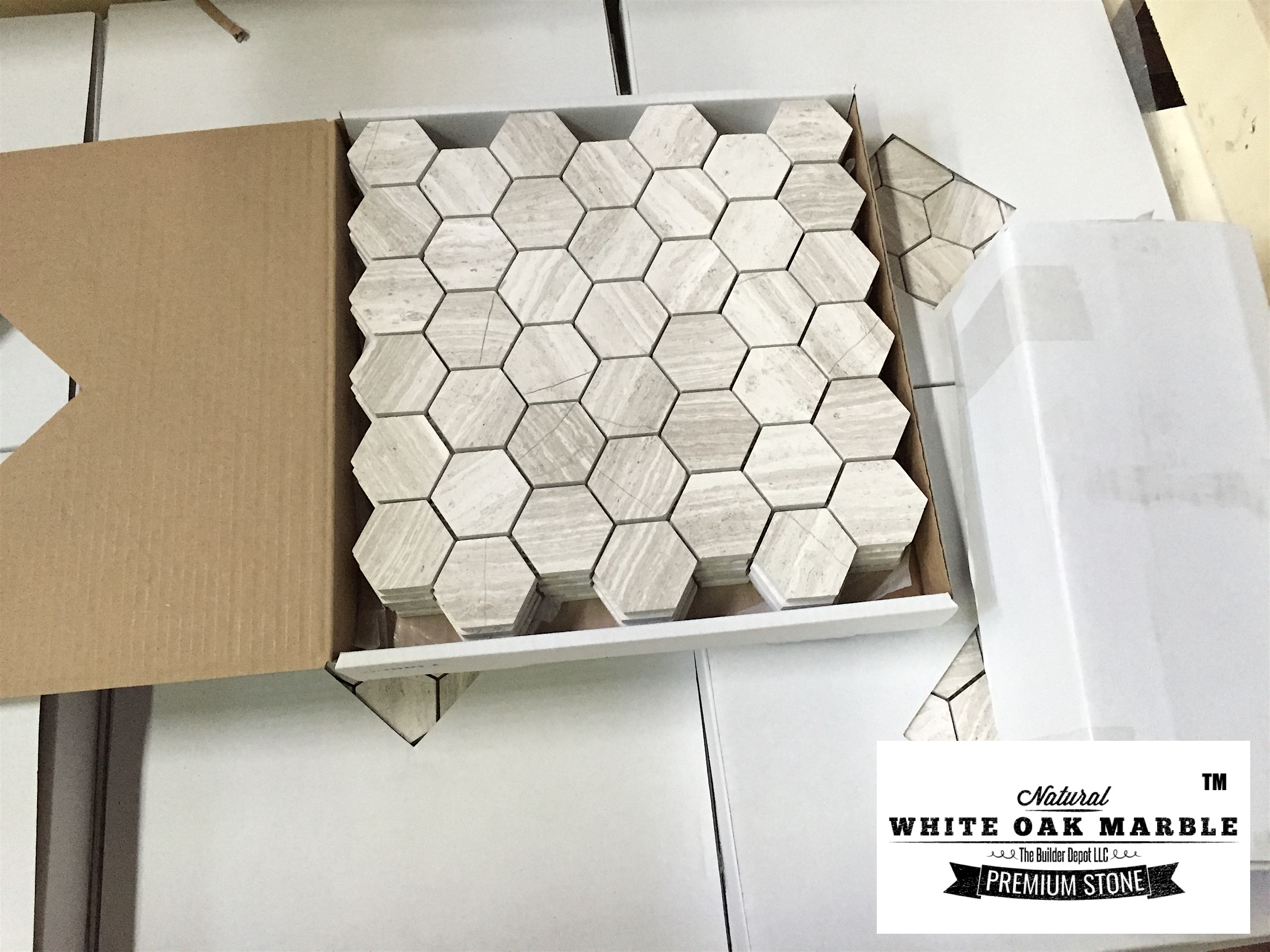 White Oak Hexagon Blog Pallet