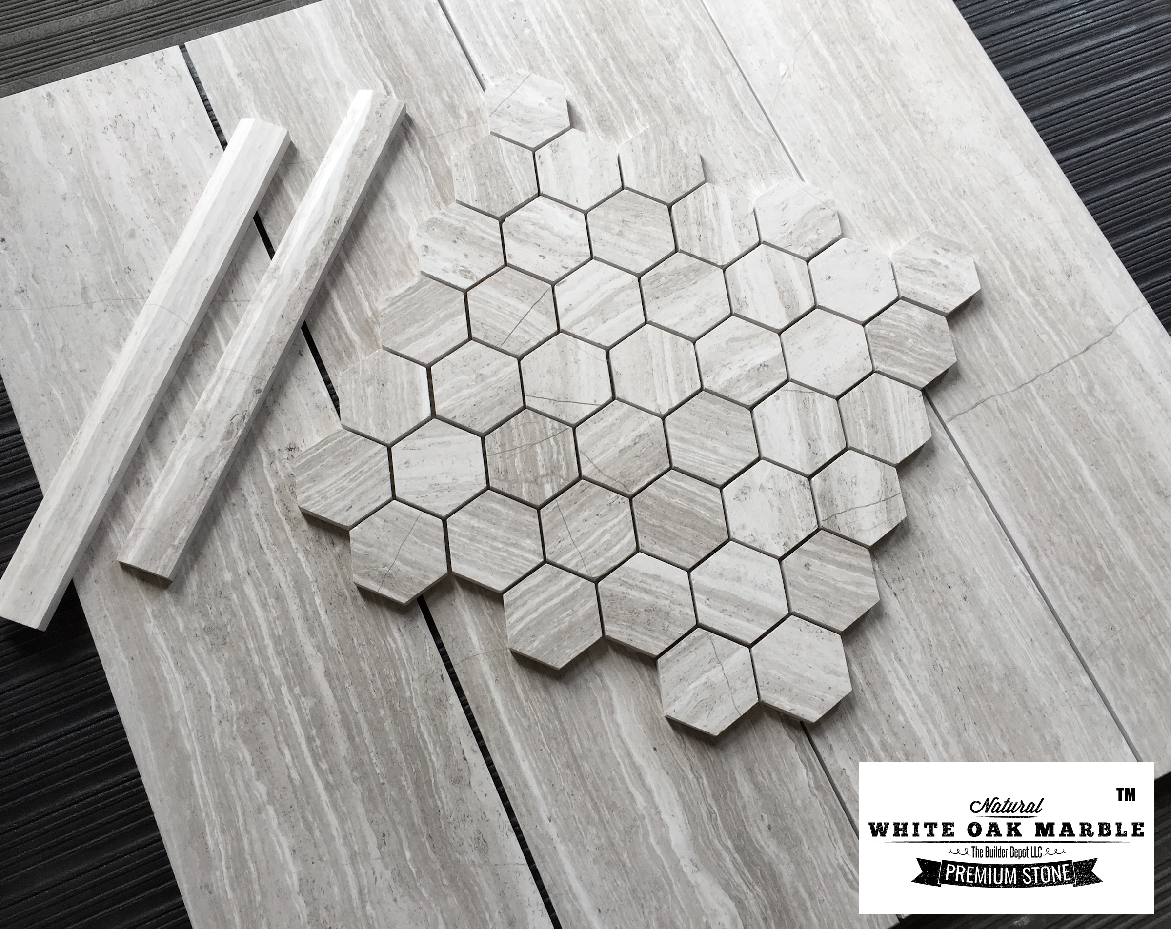 White Oak Hexagon Collection