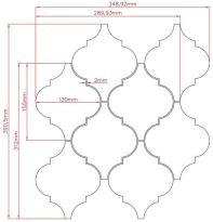 A045 Large Arabesque Mesh New Product