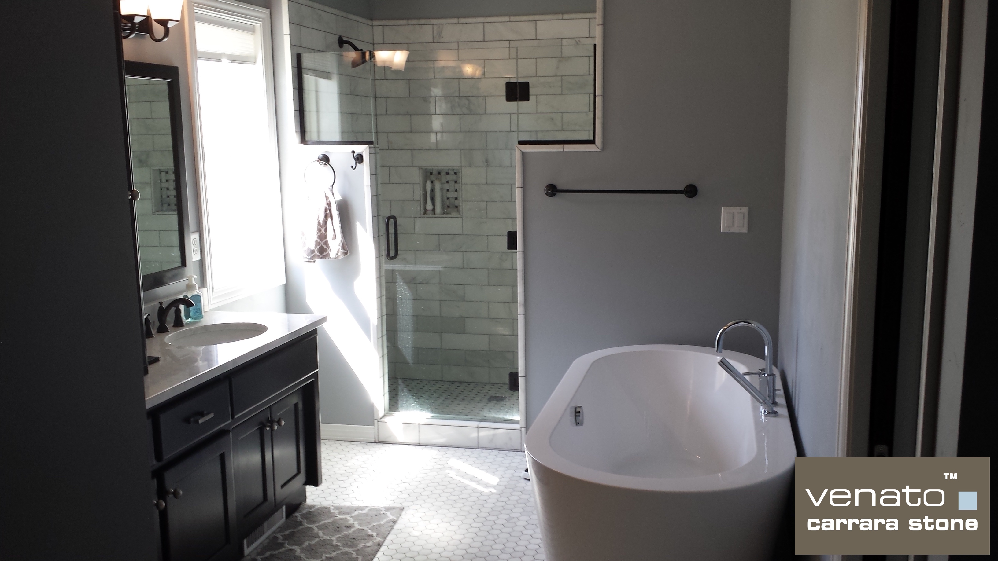 A Carrara Venato Bathroom The Builder Depot Blog