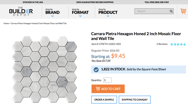 Pietra 2 Hexagon Mosaic
