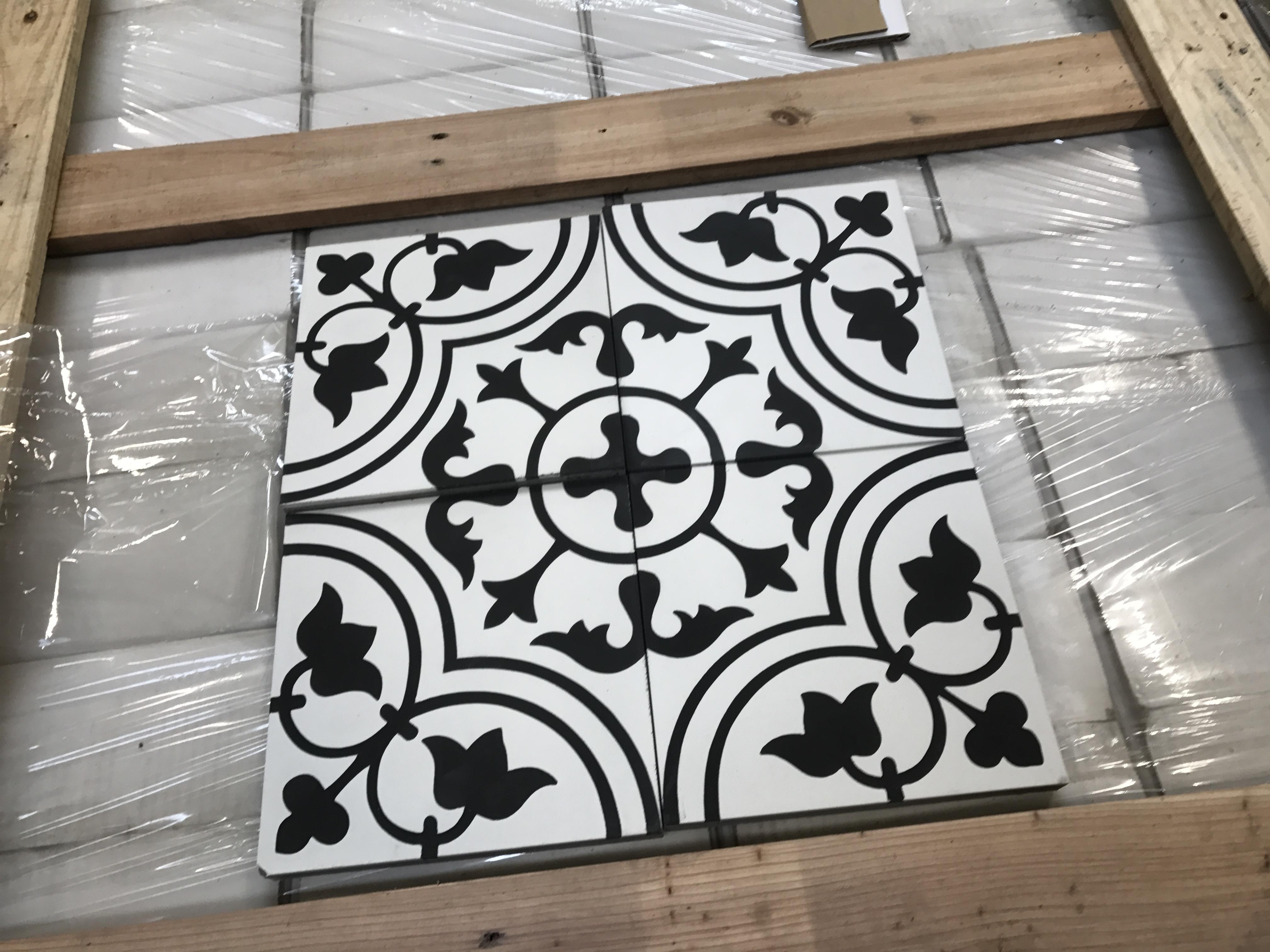 Handmade Encaustic Cement Tiles Tulips Design The