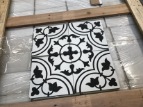 Handmade Encaustic Cement Tiles Tulips Design