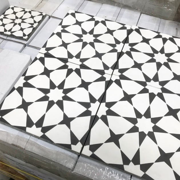 Atlas Black Cement Tile